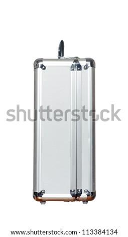 Security aluminum case for money on white background - stock photo