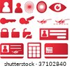 Security and biomtetric icon set, clipart illustration - stock