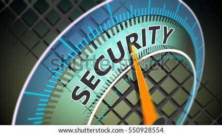 Security as a global issue. Cyber Internet secure 3D Illustration concept.