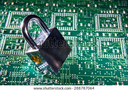 Security at the level of hardware - stock photo
