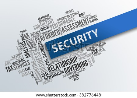 SECURITY | Business Abstract Concept - stock photo