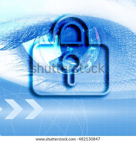 Security business background concept in blue color