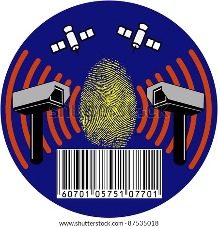 Security camera, all eyes on you: Symbol for surveillance or protection of privacy - stock photo