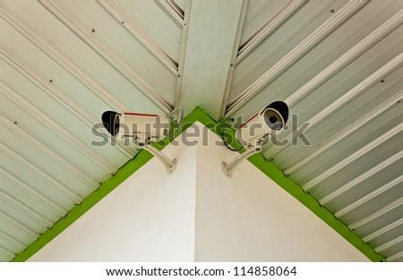Security camera ,CCTV - stock photo