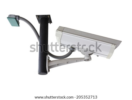 security camera, cctv isolated on white background