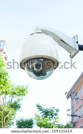 Security camera (Clipping path!) - stock photo