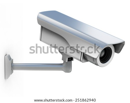 security camera 3d illustration - stock photo