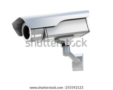 security camera 3d illustration