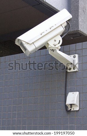 Security Camera Installed In The Parking Lote
