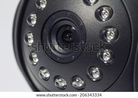 Security camera. IP Camera. Macro - stock photo