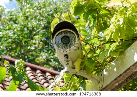 Security Camera or CCTV at home - stock photo