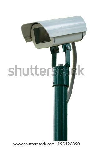 Security Camera or CCTV on white background - stock photo