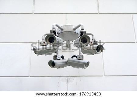 Security cameras - stock photo