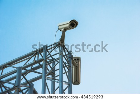 Security cams on the construction