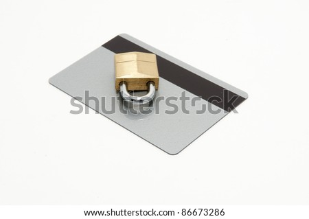 security card theme with padlock representing safety or confidentiality
