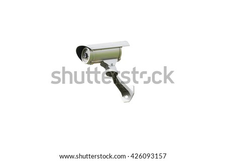 Security CCTV cameras isolated on white background