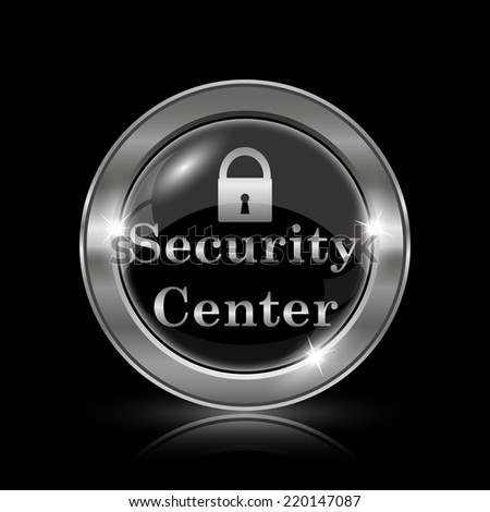 Security center icon. Internet button on black background.