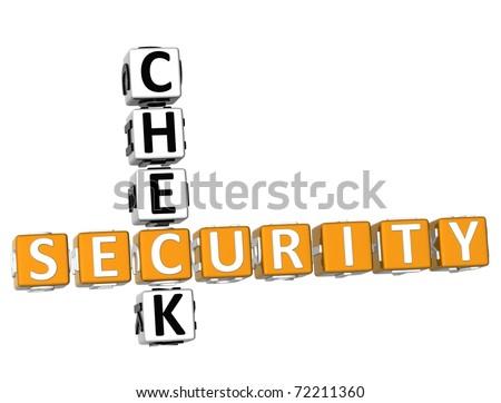 Security Check Crossword - stock photo