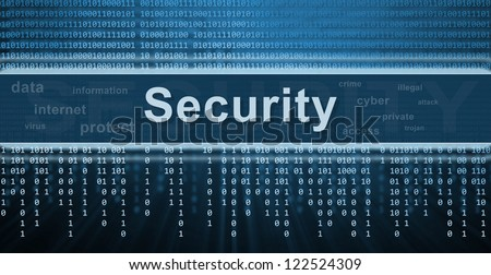 Security concept. Binary code, technology background