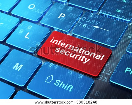 Security concept: International Security on computer keyboard background - stock photo