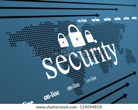 Security concept with padlock  shape - stock photo