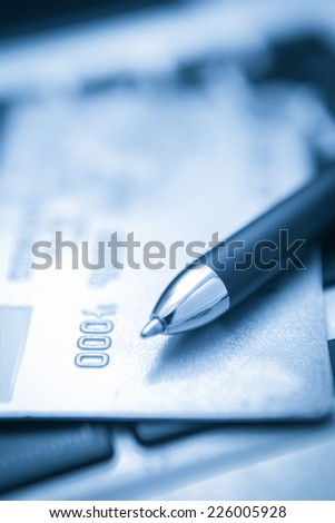 Security Credit card online shopping payment - stock photo