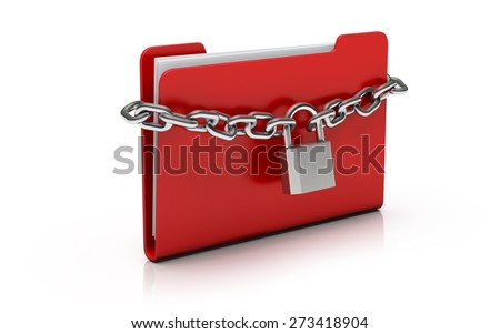 Security. 3D. Confidential Files - stock photo
