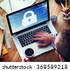 Security Data Protection Information Lock Save Private Concept - stock photo