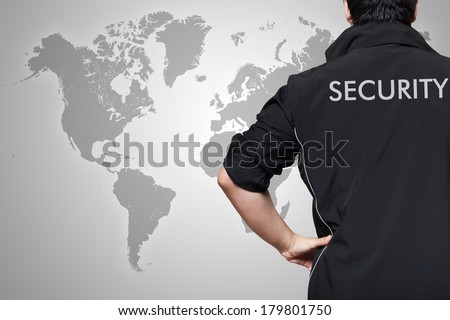 Security guard at work - stock photo