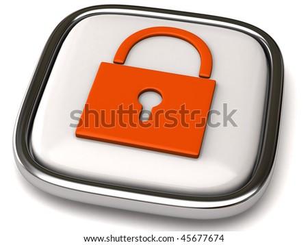 Security icon - stock photo