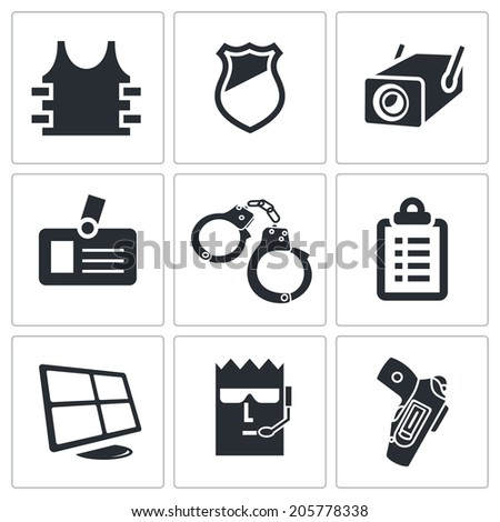 Security Icons set - stock photo
