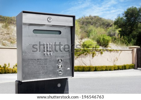 Security Intercom used for a gated community.