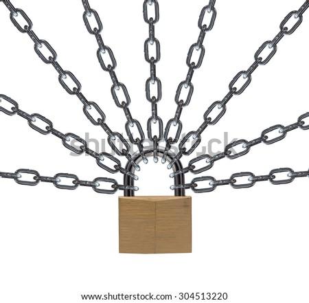 security lock. - stock photo