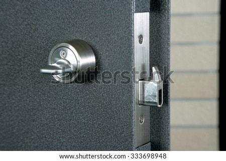 Security lock of residence - stock photo