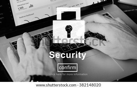 Security Lock Website Online Privacy Concept - stock photo