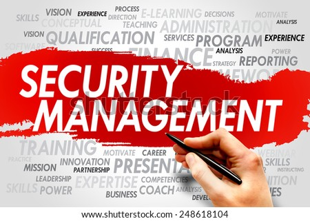 Security Management word cloud, business concept - stock photo