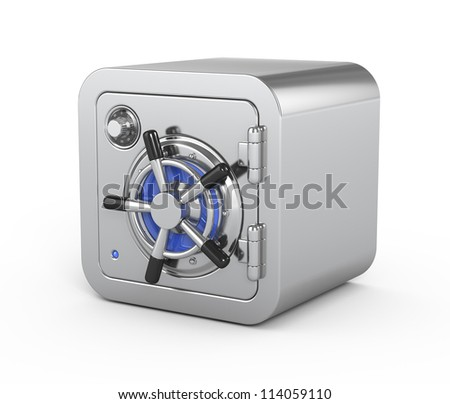 Security metal safe - 3d icon - stock photo