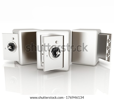 Security metal safes with empty space inside