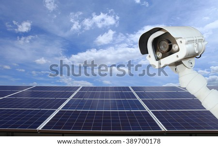 Security of solar power plant.cctv cameras secure solar .