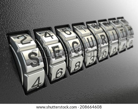 Security password combination concept, Three-dimensional image. 3d - stock photo