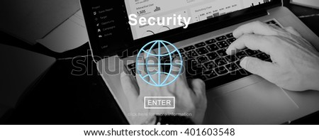 Security Protection Confidentiality Insurance Concept - stock photo