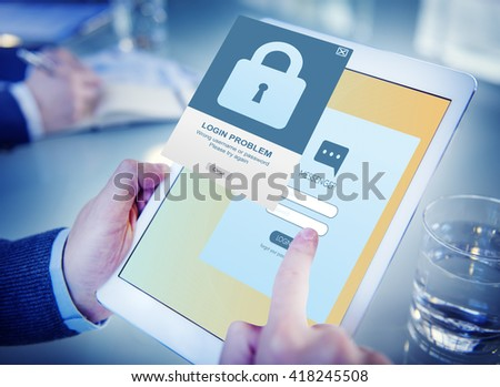 Security Register Account Apply Concept - stock photo