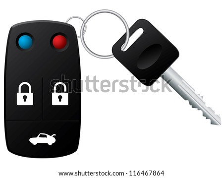 Security remote control for your car - stock photo