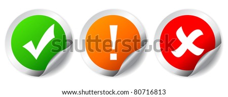 Security stickers - stock photo