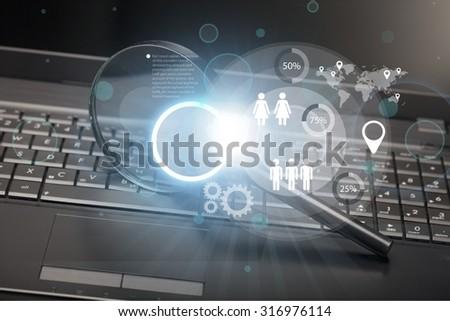 Security Surveillance. - stock photo