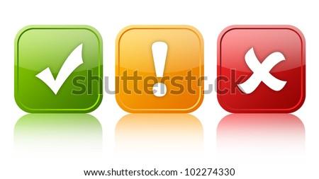 Security symbols - stock photo