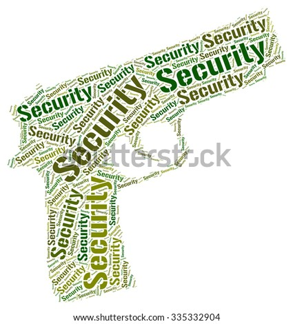 Security Word Indicating Secured Privacy And Wordcloud - stock photo