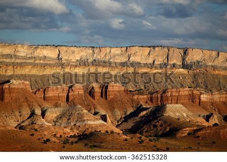 Sedimentary rocks along the Notom-Bullfrog road, Capitol Reef National Park, Utah, USA - stock photo