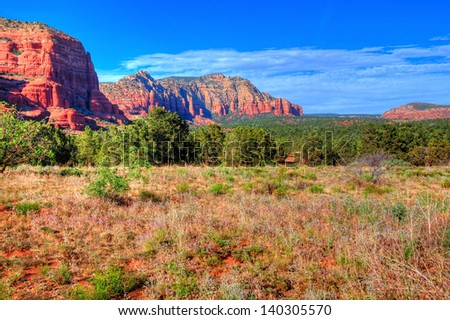 Sedona Arizona red rock country landscape - stock photo