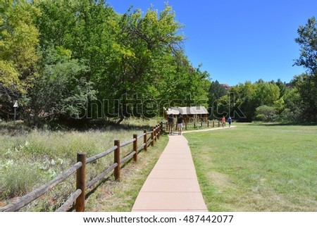 SEDONA, AZ - SEPTEMBER 20: Red Rock Crossing Park in Sedona, AZ on September 20.2016. One of the most beautiful parks in Arizona, and many people visit every year.